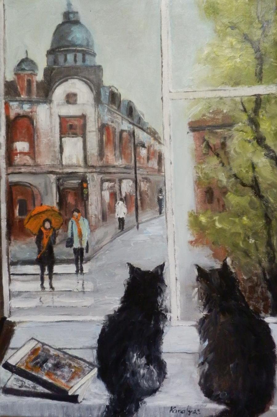 Picturi de toamna Pisici nostalgice