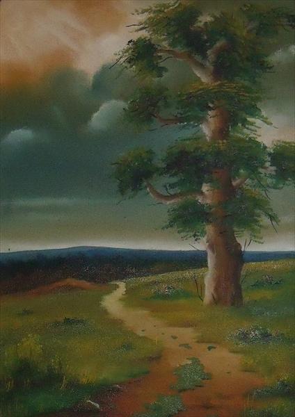 Picturi de toamna Apus de soare intre nori