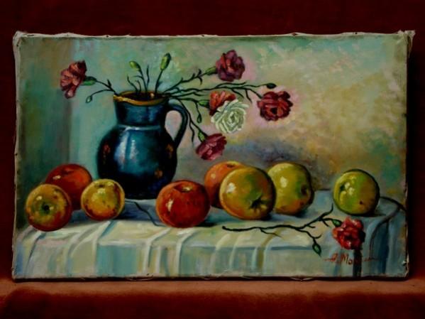Picturi de toamna Flori si mere1