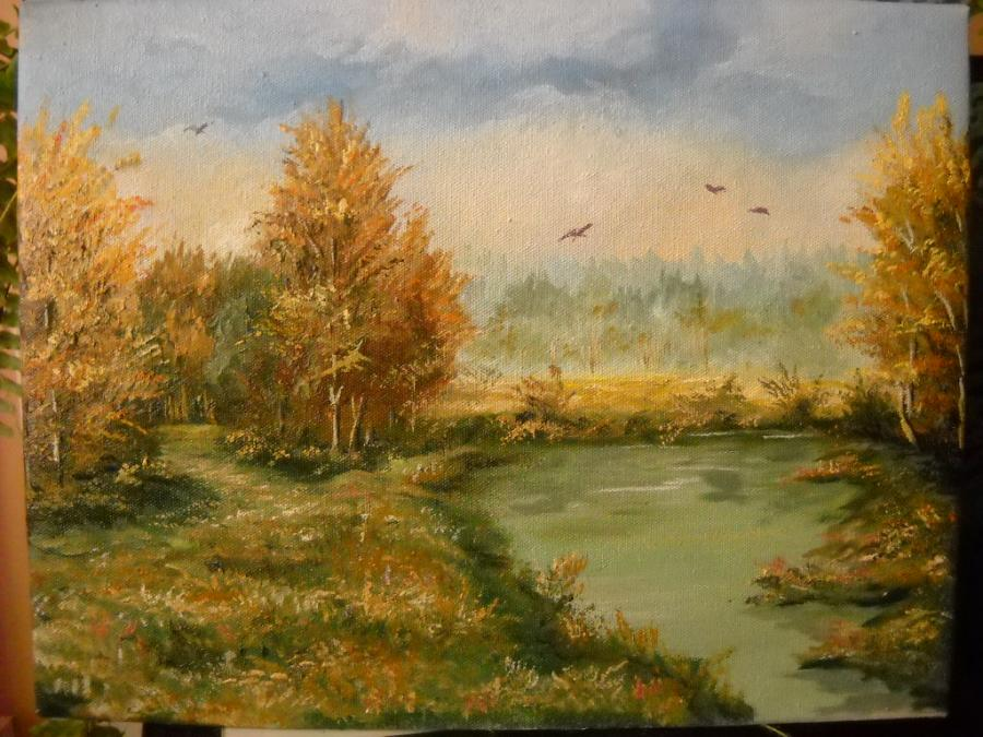 Picturi de toamna padurea ruginie