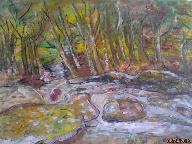 Picturi de toamna izvor in padure