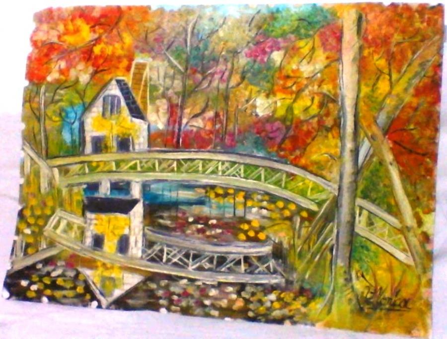Picturi de toamna pod peste apa
