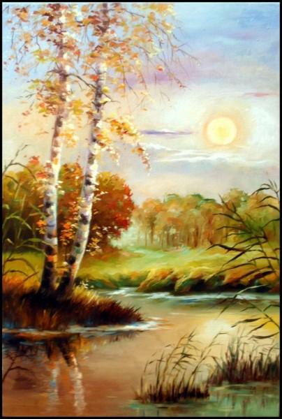 Picturi de toamna Autumn lake