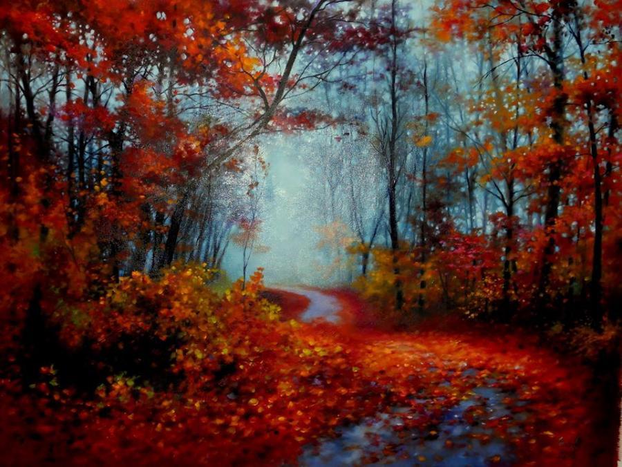 Picturi de toamna red road II