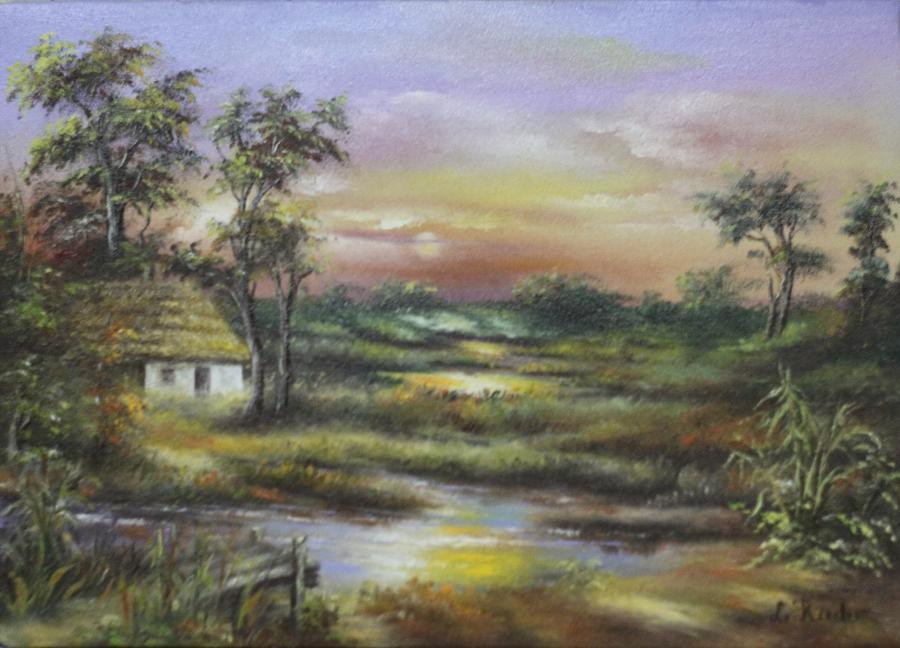 Picturi de toamna Amurg multi-color