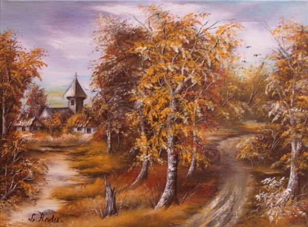 Picturi de toamna Bisericuta din sat