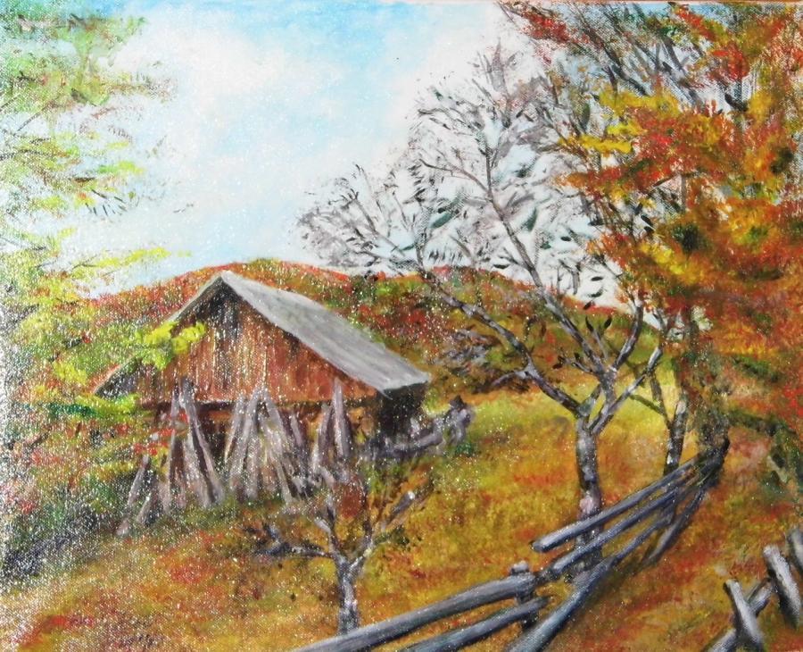 Picturi de toamna Peisaj de toamna 04