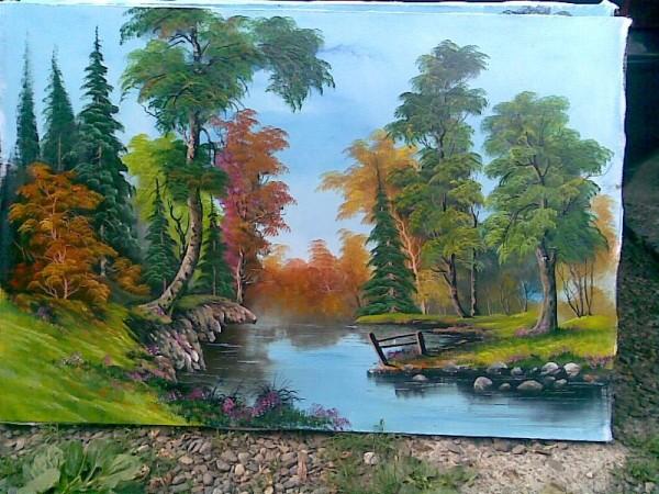 Picturi de toamna Oglindind padurea