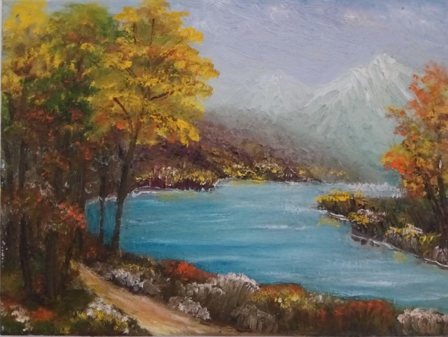 Picturi de toamna Toamna în compania râului