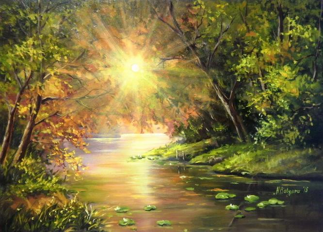 Picturi cu peisaje PLOAIA DE SOARE