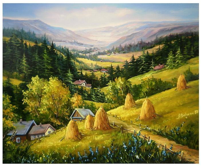 Picturi cu peisaje VARA IN MUNTI (2)