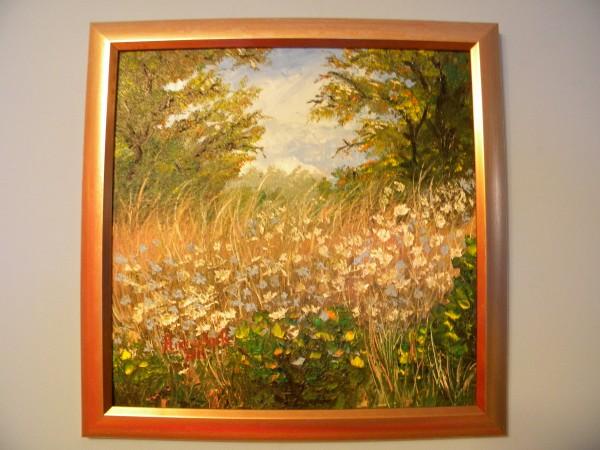 Picturi de vara Camp cu flori