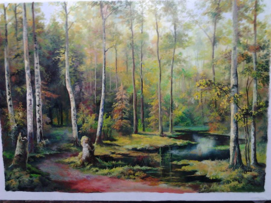 Picturi de vara Poteca din padure
