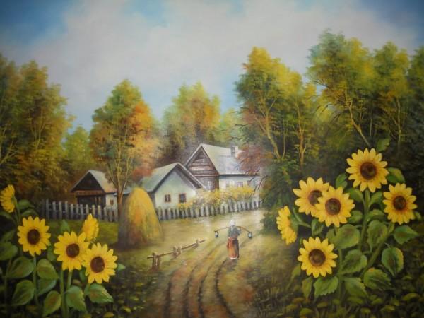 Picturi de vara Cararea din sat