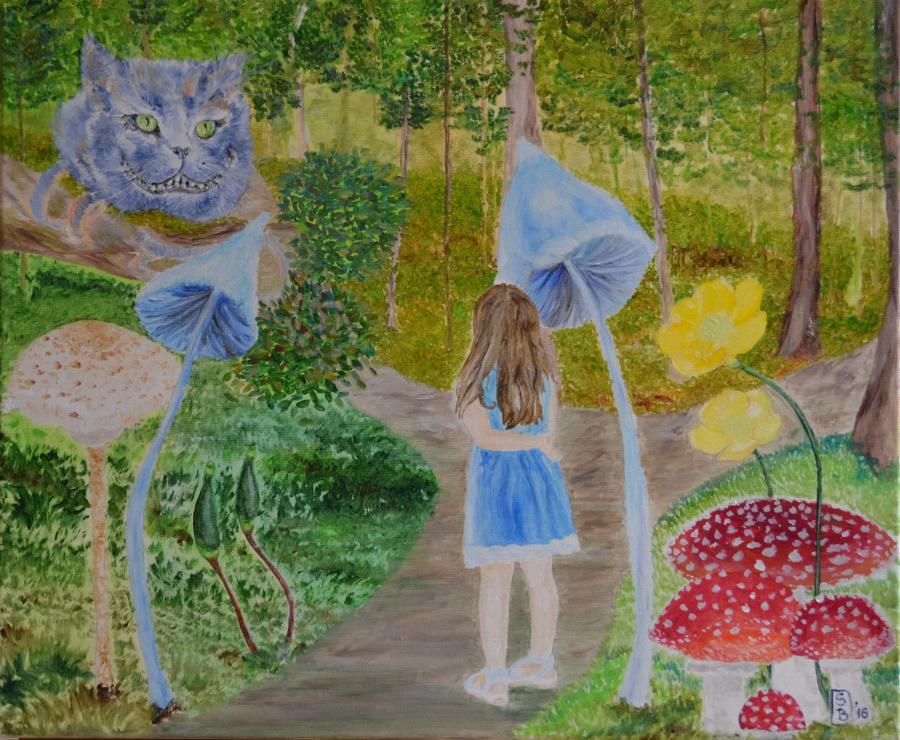 Picturi de vara Alice in tara minunilor