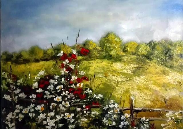 Picturi de vara Gard inflorit