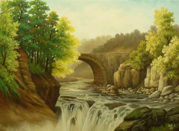 Picturi de vara Cascada 1