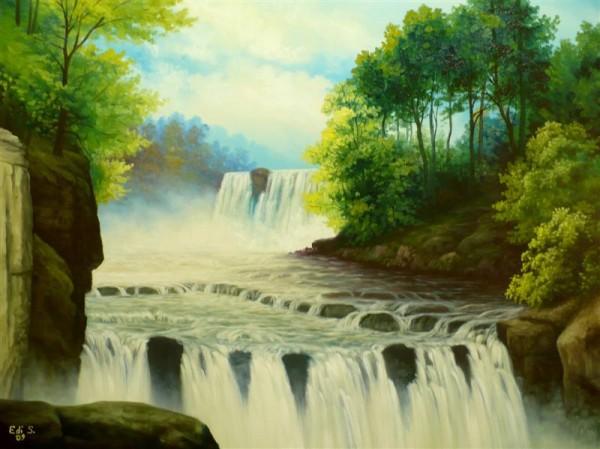 Picturi de vara Cascada 2