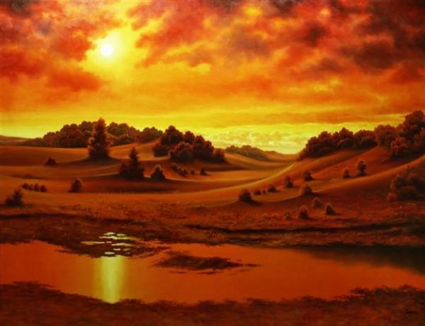Picturi de vara Desertul rosu