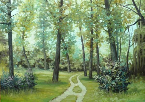 Picturi de vara Palc de copaci