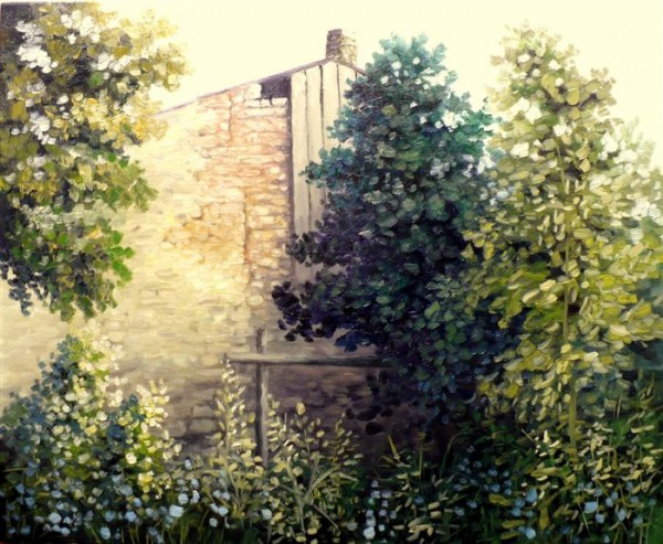 Picturi de vara Spatele casei