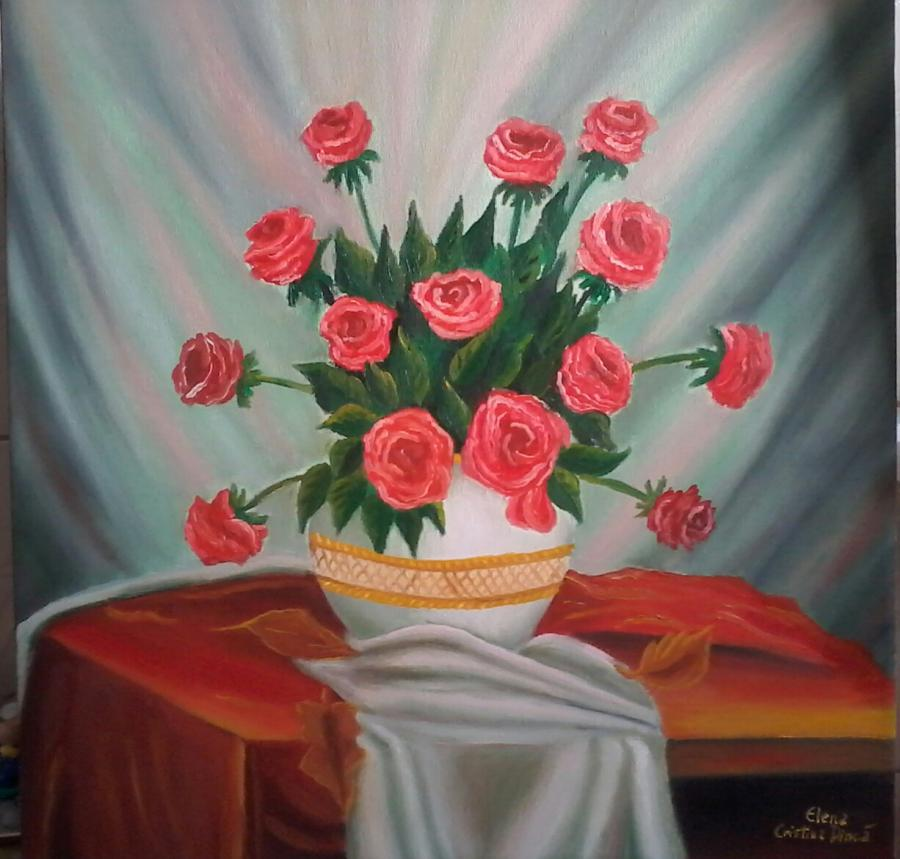 Picturi de vara Trandafiri sublimi