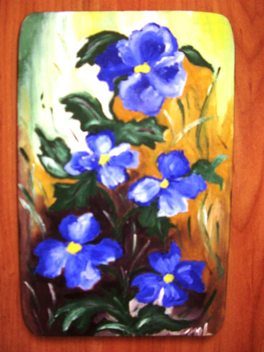 Picturi de vara Albastrele in iarba
