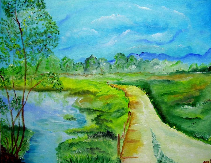 Picturi de vara Peisaj de iulie