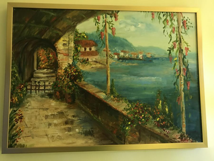 Picturi de vara Peisaj mediteranean