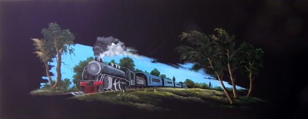 Picturi de vara Locomotiva cu aburi 1