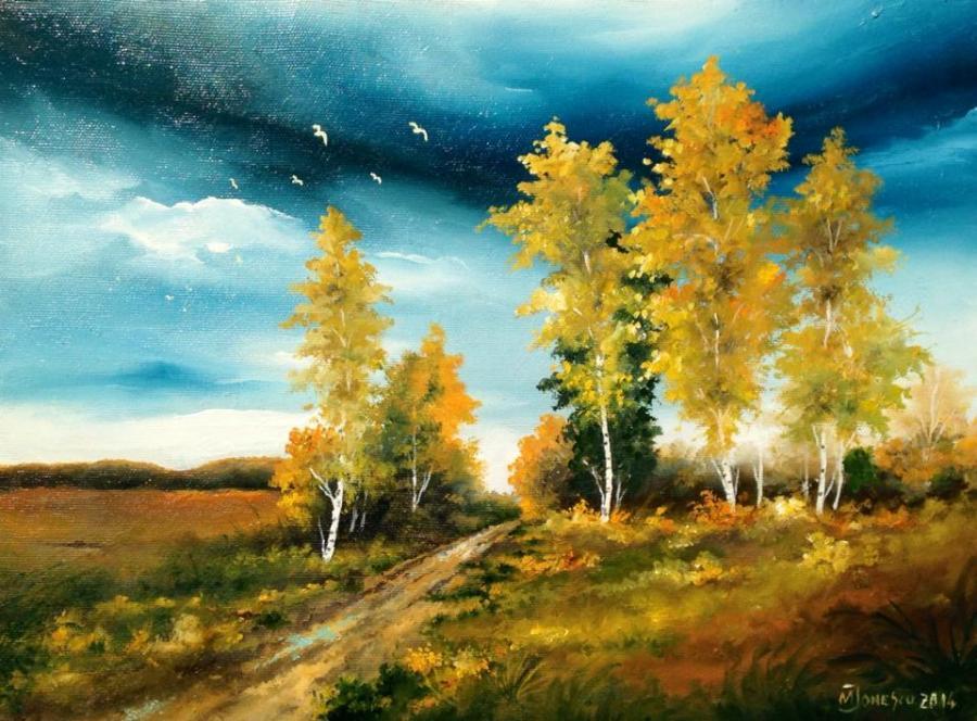 Picturi de vara Un peisaj