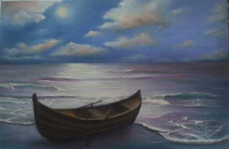 Picturi maritime navale Asteptare