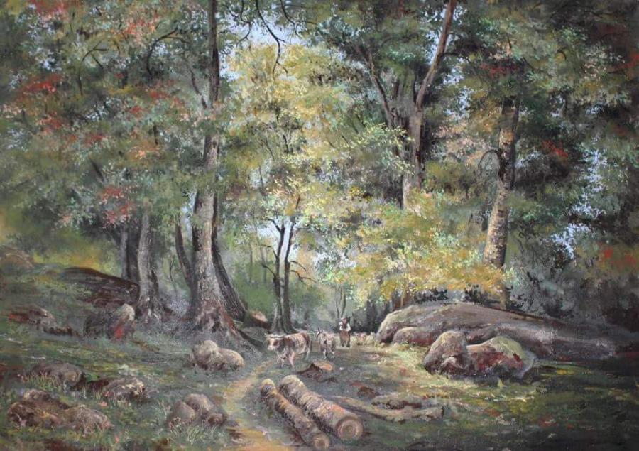 Picturi de vara la pascut in padure