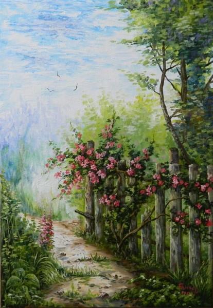 Picturi de vara Gardul inflorit