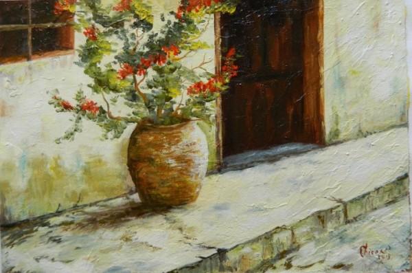 Picturi de vara Pe prispa casei