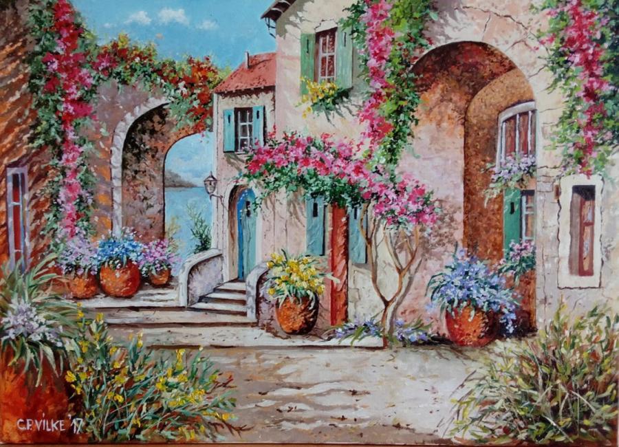 Picturi de vara Vis la Mediterana