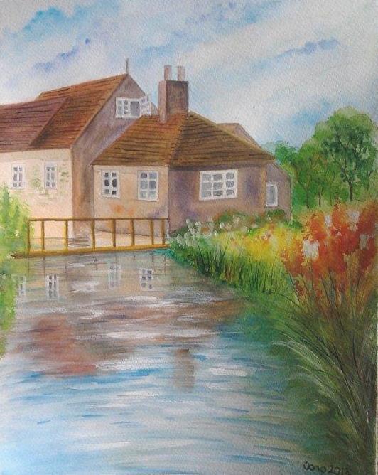 Picturi de vara Pe malul apei