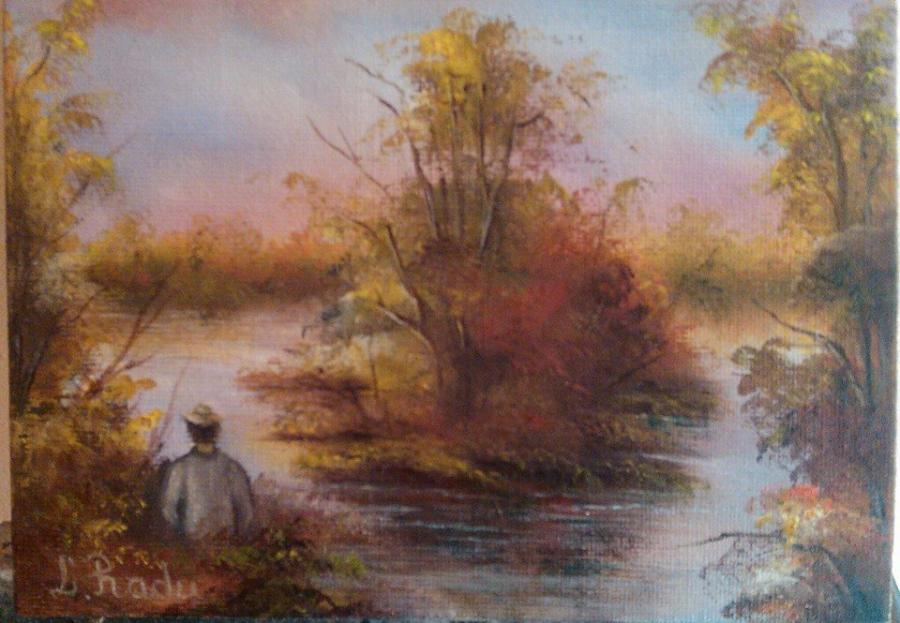 Picturi de vara un pescar