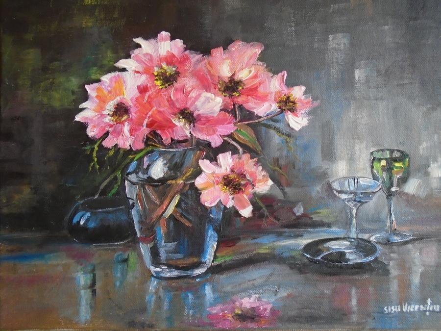 Picturi de vara decor cu florii ....