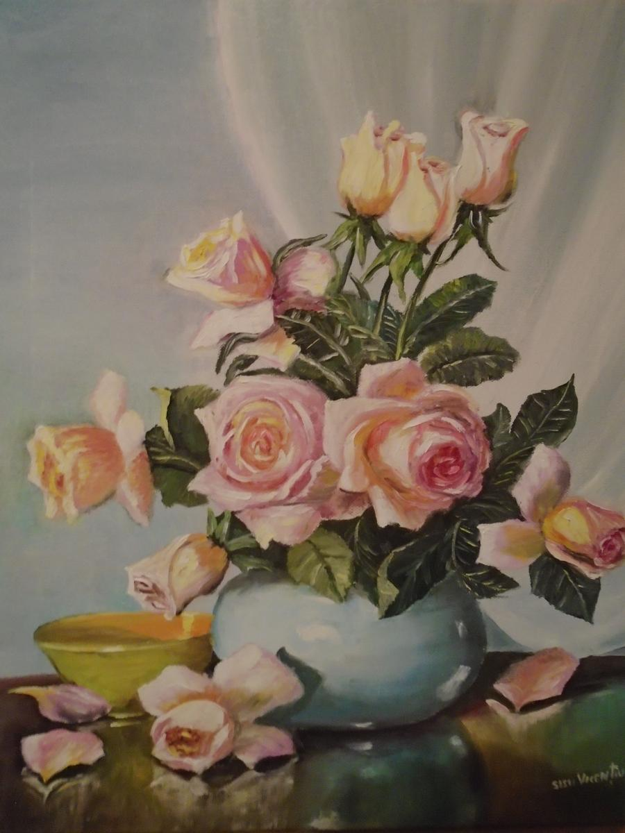Picturi de vara decor trandafiri ....