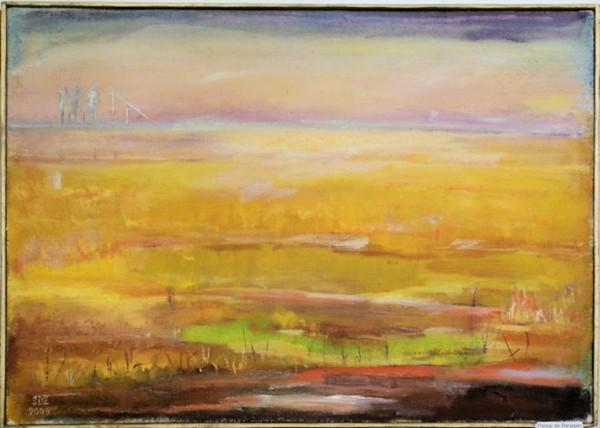 Picturi de vara Peisaj de baragan