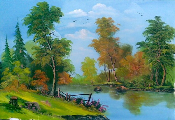 Picturi de vara Dimineata de vara