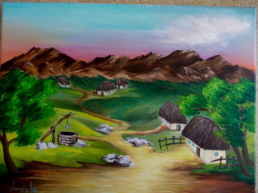 Picturi de vara Distanta muntilor