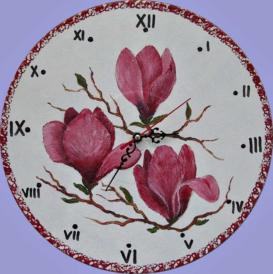 Picturi decor Ceas de perete cu magnolii