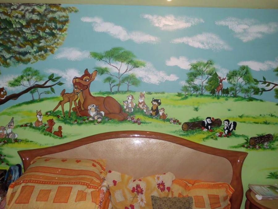 Picturi decor bambi si prieteni