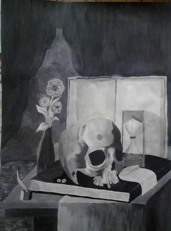 Picturi decor Natură statică 6 - Craniu
