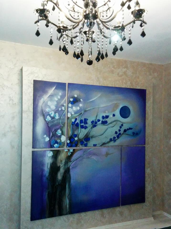 Picturi decor purple