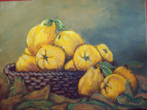 Picturi decor Cos cu gutui