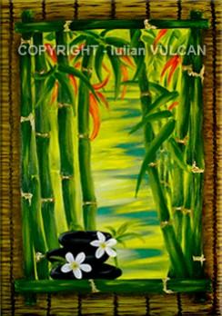 Picturi decor Flori de bambus - zen