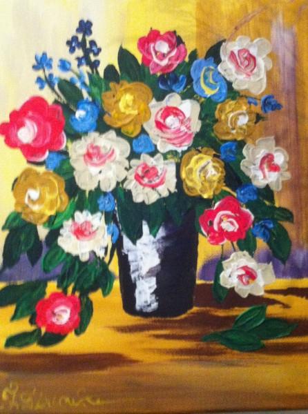 Picturi decor Vaza cu trandafiri